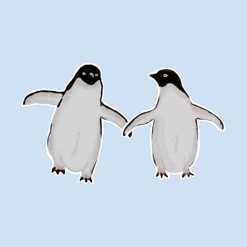 Penguin Love Men's T-Shirt by ci's Artist Shop