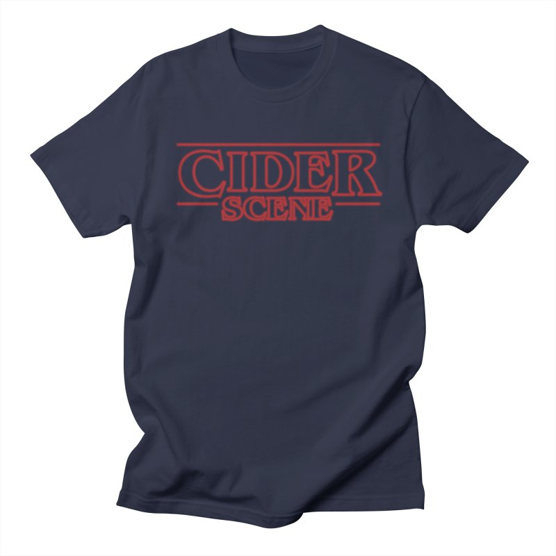 Upcide(r) Down in Men's Regular T-Shirt Navy by Ciderscene's Artist Shop
