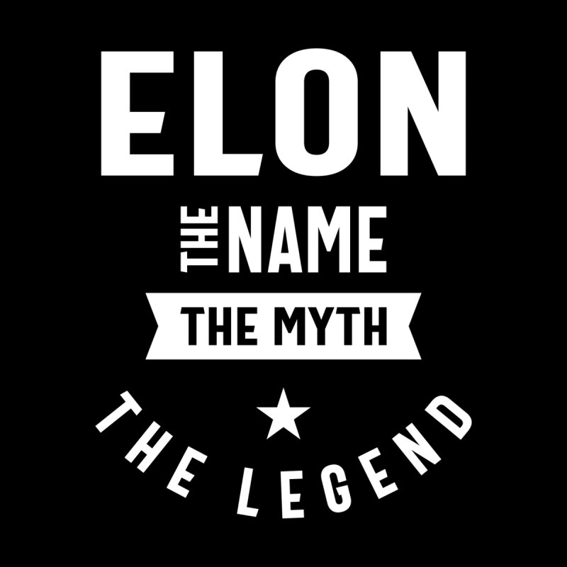 Elon Personalized Name Birthday Gift Men's T-Shirt by Cido Lopez Shop