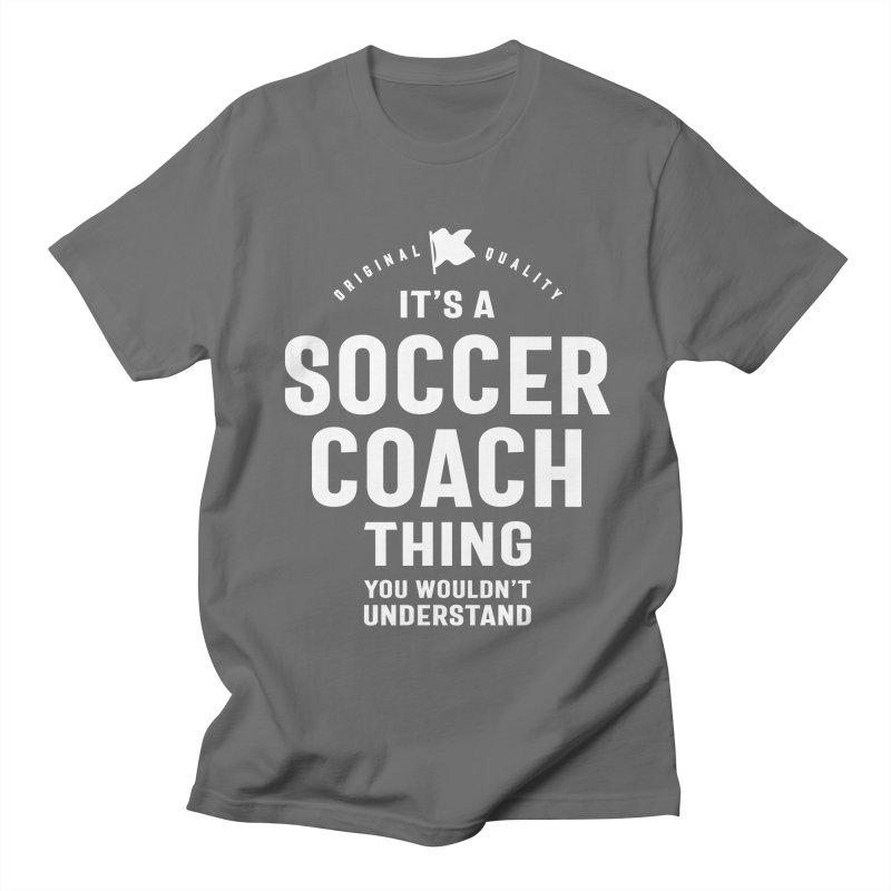Soccer Coach Job Title Gift Men's T-Shirt by Cido Lopez Shop