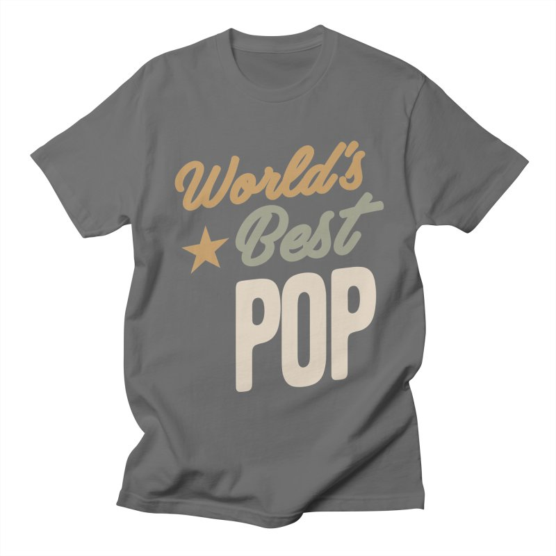 World's Best Pop - Father and Grandpa Gifts Men's T-Shirt by Cido Lopez Shop