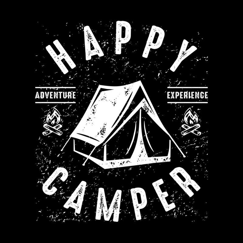 Happy Camper Tent - RV Camping T Shirt for Men Women Men's T-Shirt by Cido Lopez Shop