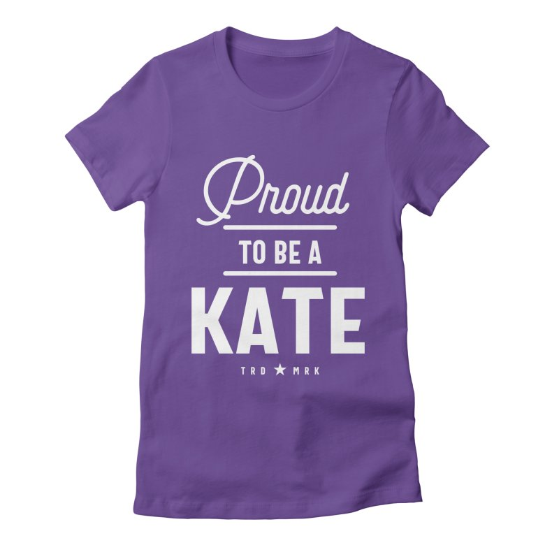 Kate Personalized Name Birthday Gift Women's T-Shirt by Cido Lopez Shop