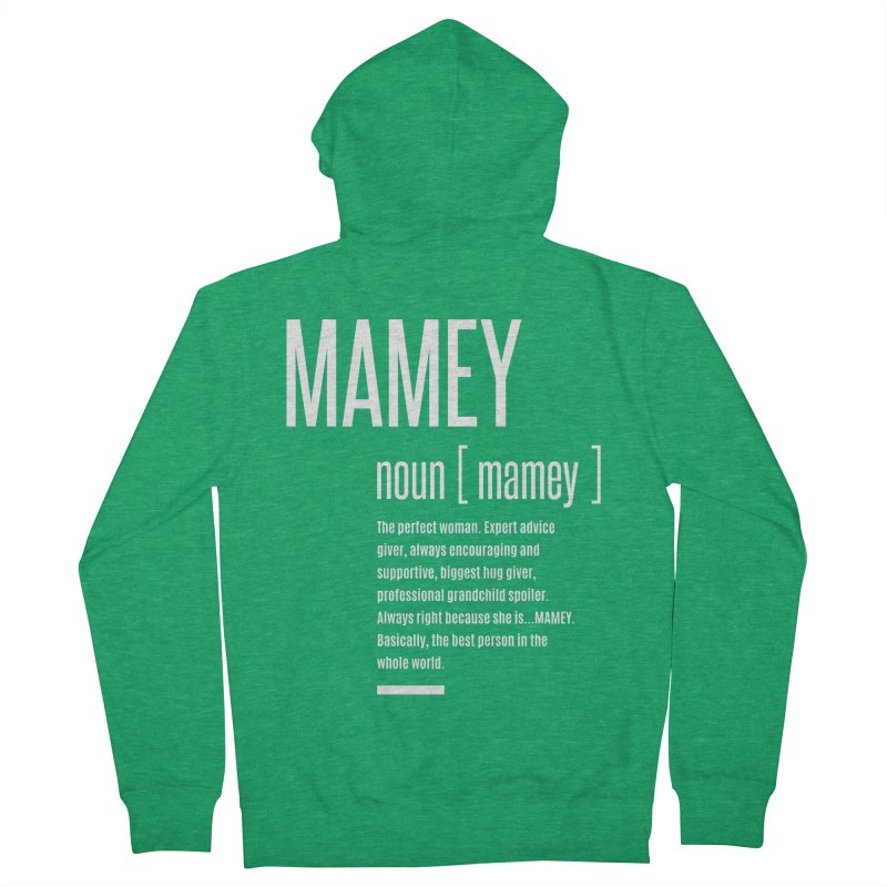 Womens Definition Mamey   Mothers Day Women's Zip-Up Hoody by Cido Lopez Shop