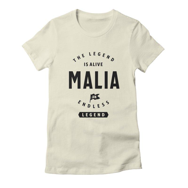 Womens Malia Personalized Name Birthday Gift Women's T-Shirt by Cido Lopez Shop