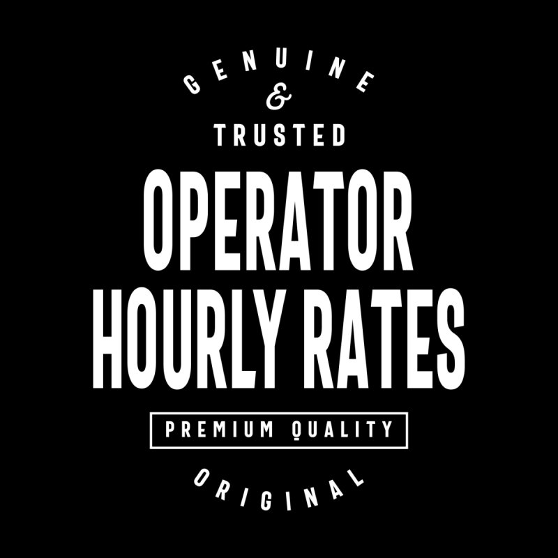Operator Hourly Rates Gift Funny Job Title Profession Birthday Idea Accessories Notebook by Cido Lopez Shop
