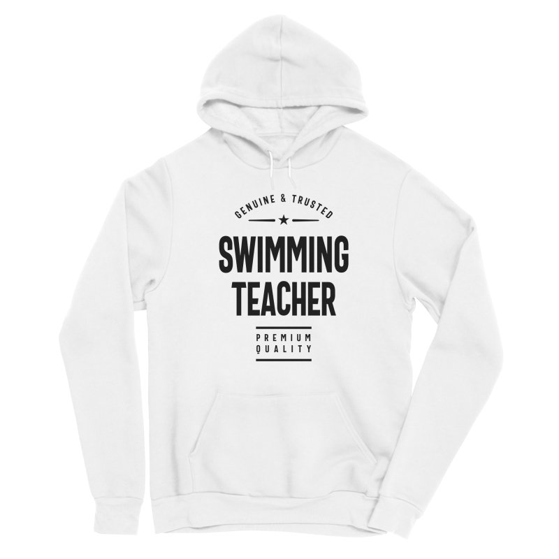 Swimming Teacher Gift Funny Job Title Profession Birthday Idea Men's Pullover Hoody by Cido Lopez Shop