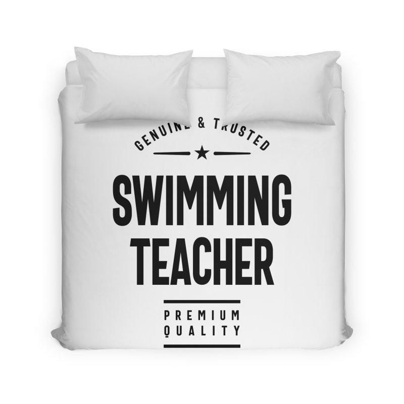 Swimming Teacher Gift Funny Job Title Profession Birthday Idea Home Duvet by Cido Lopez Shop