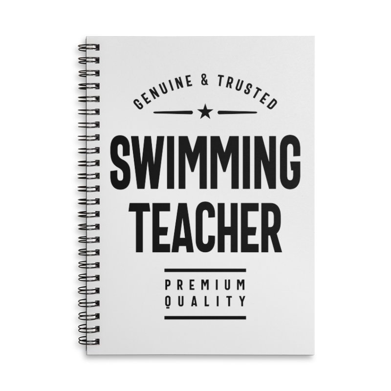 Swimming Teacher Gift Funny Job Title Profession Birthday Idea Accessories Notebook by Cido Lopez Shop