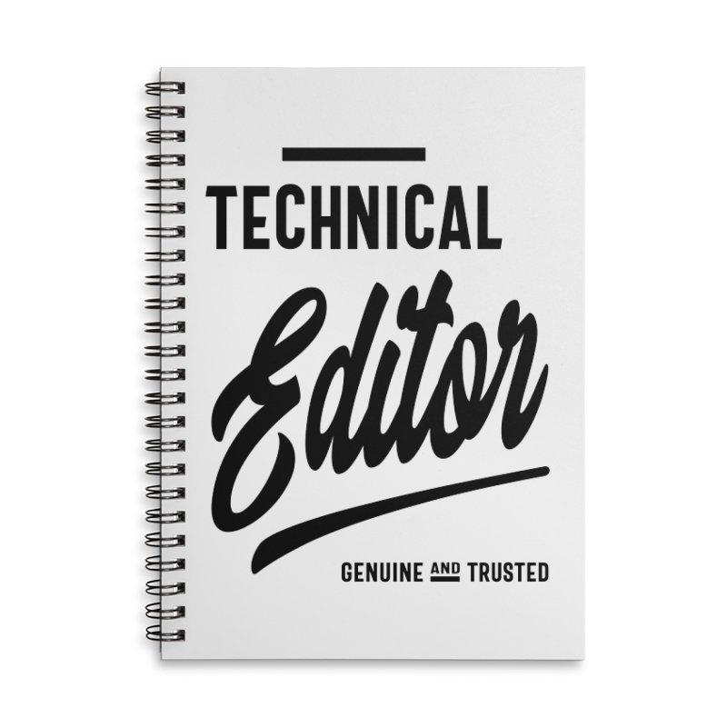 Technical Editor Gift Funny Job Title Profession Birthday Idea Accessories Notebook by Cido Lopez Shop