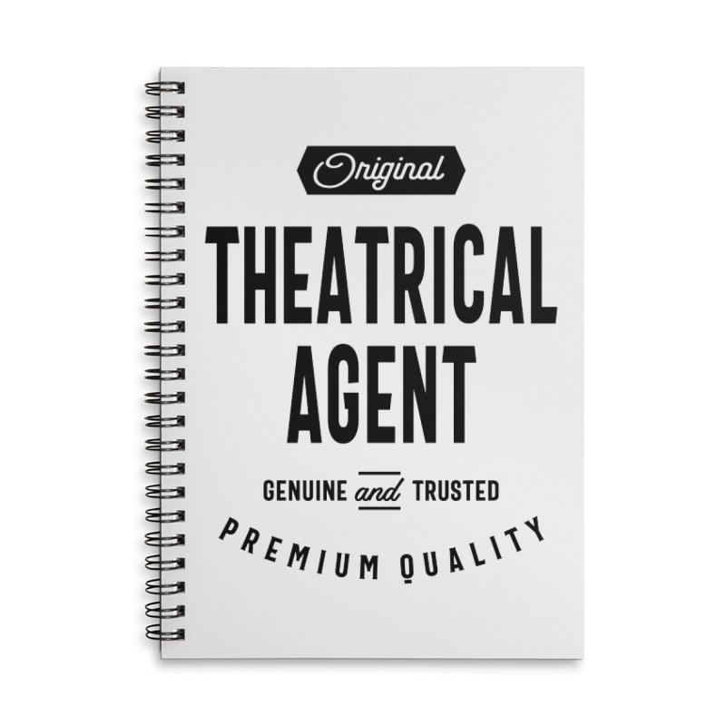 Theatrical Agent Gift Funny Job Title Profession Birthday Idea Accessories Notebook by Cido Lopez Shop