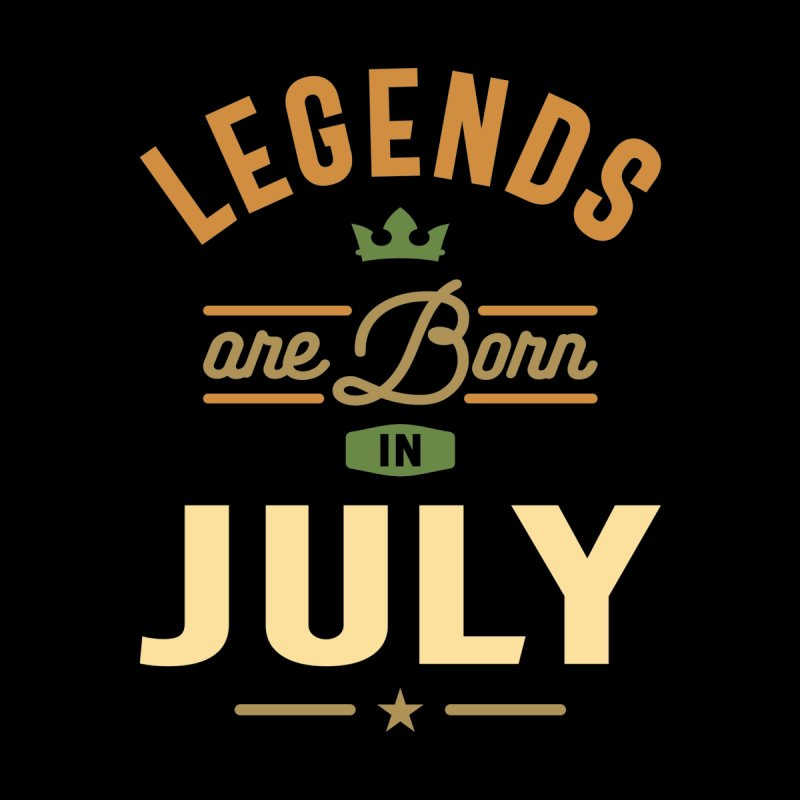 Legends Are Born In July Birthday Design Men's T-Shirt by Cido Lopez Shop