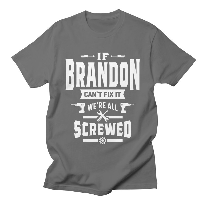 Brandon Personalized Name Birthday Gift Men's T-Shirt by Cido Lopez Shop