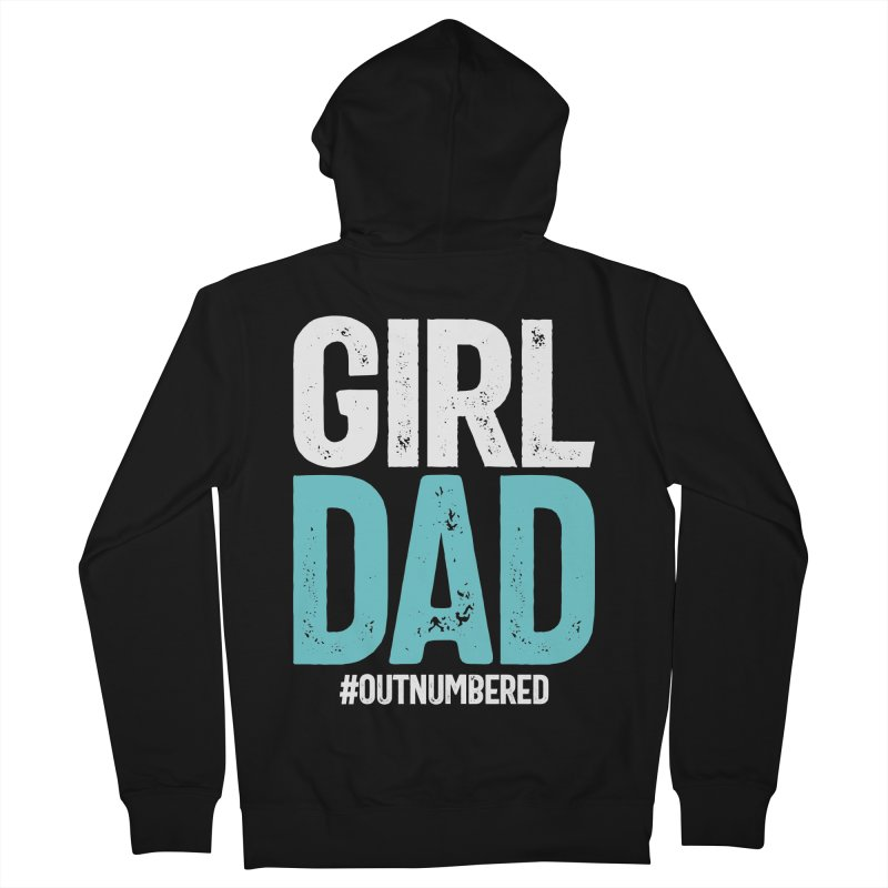 Girl Dad #outnumbered | Father's Day Men's Zip-Up Hoody by Cido Lopez Shop