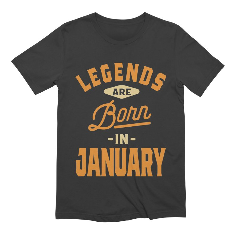 Legends Are Born In January Birthday Men's T-Shirt by Cido Lopez Shop