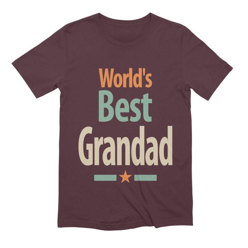 World's Best Grandad - Dad and Grandpa Men's T-Shirt by Cido Lopez Shop