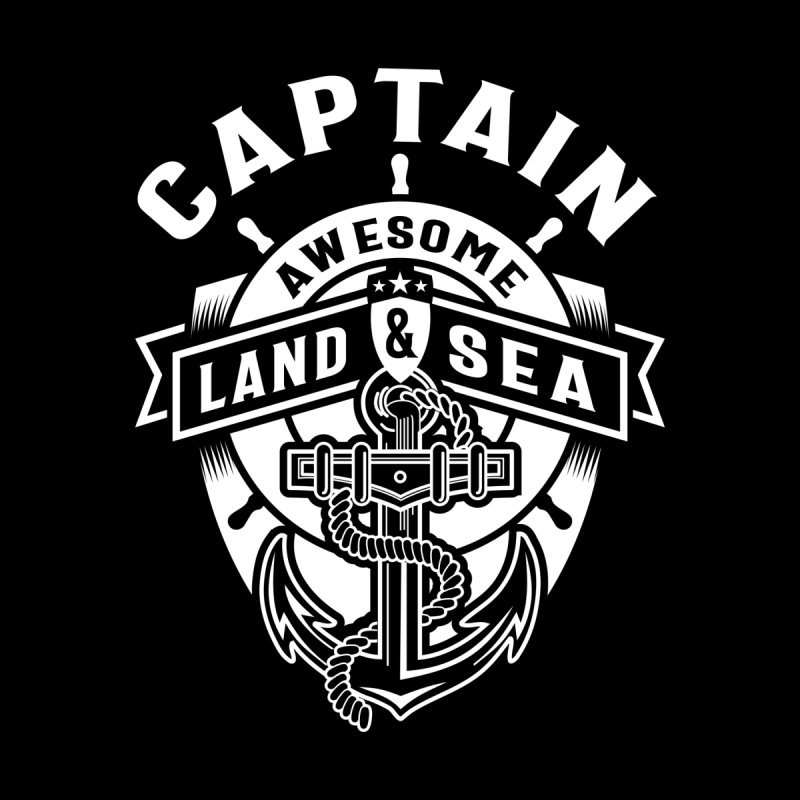 Captain Awesome Land & Sea Extreme Sport Kids Baby Zip-Up Hoody by Cido Lopez Shop