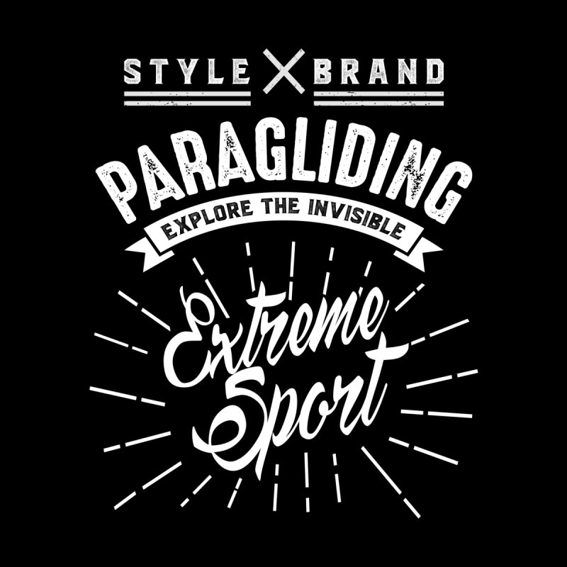 Paragliding Explore The Invisible Extreme Sport Kids Longsleeve T-Shirt by Cido Lopez Shop