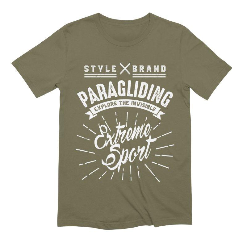 Paragliding Explore The Invisible Extreme Sport Men's T-Shirt by Cido Lopez Shop