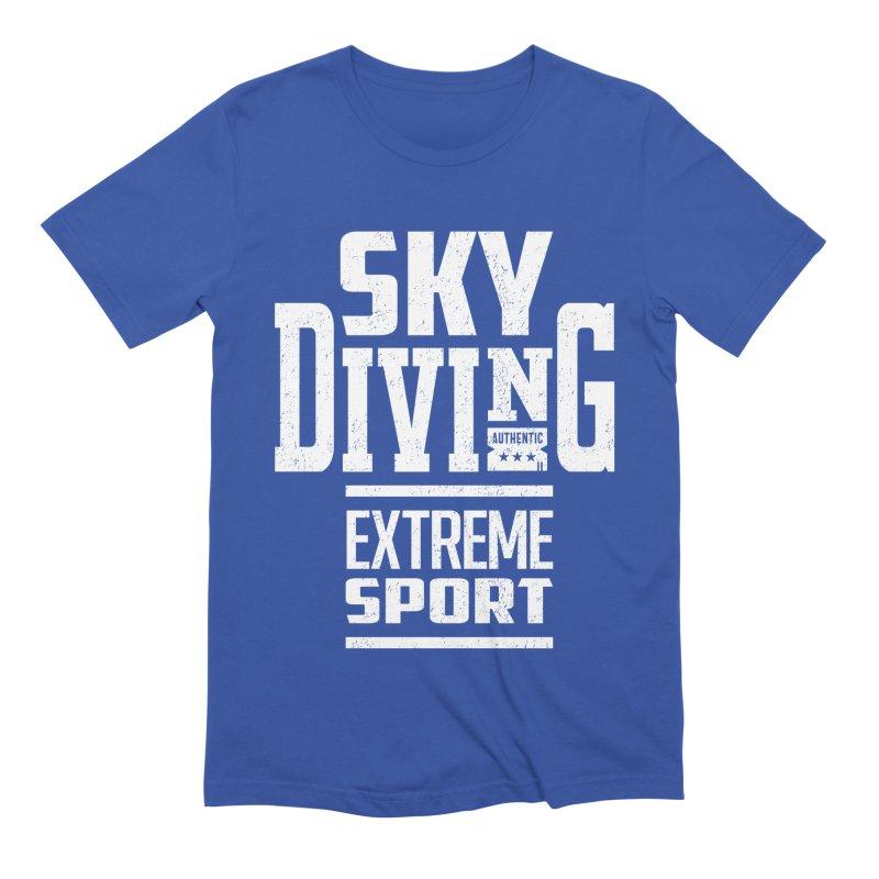 Sky Diving Extreme Sport Men's T-Shirt by Cido Lopez Shop