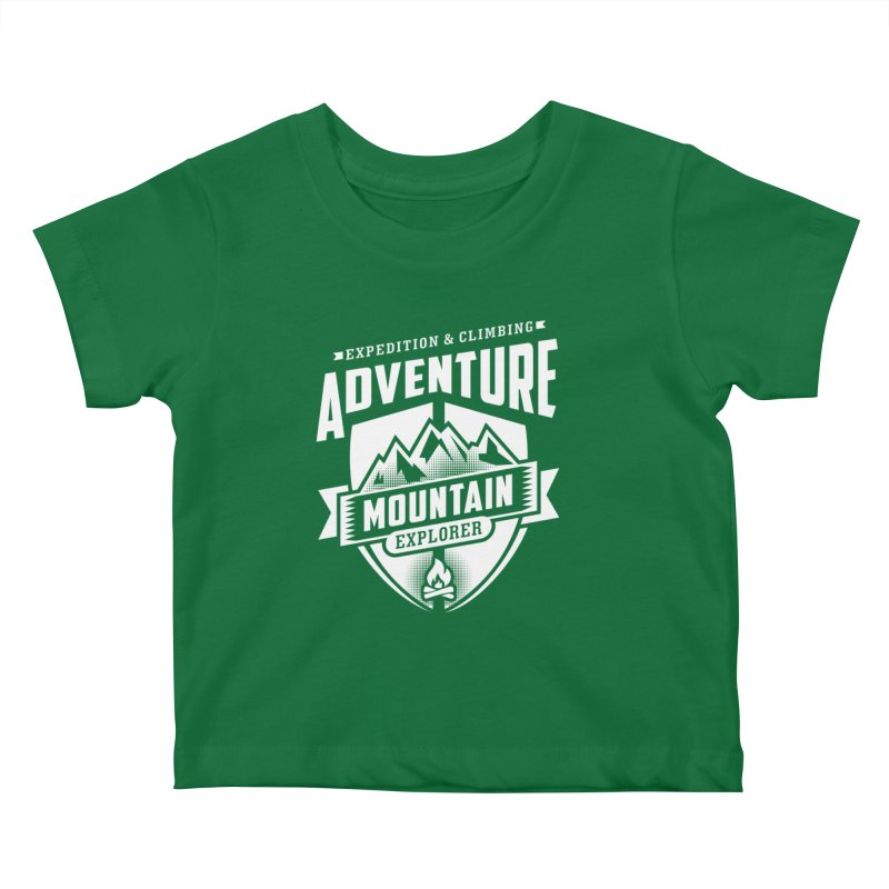 Adventure Expedition Extreme Sport Kids Baby T-Shirt by Cido Lopez Shop