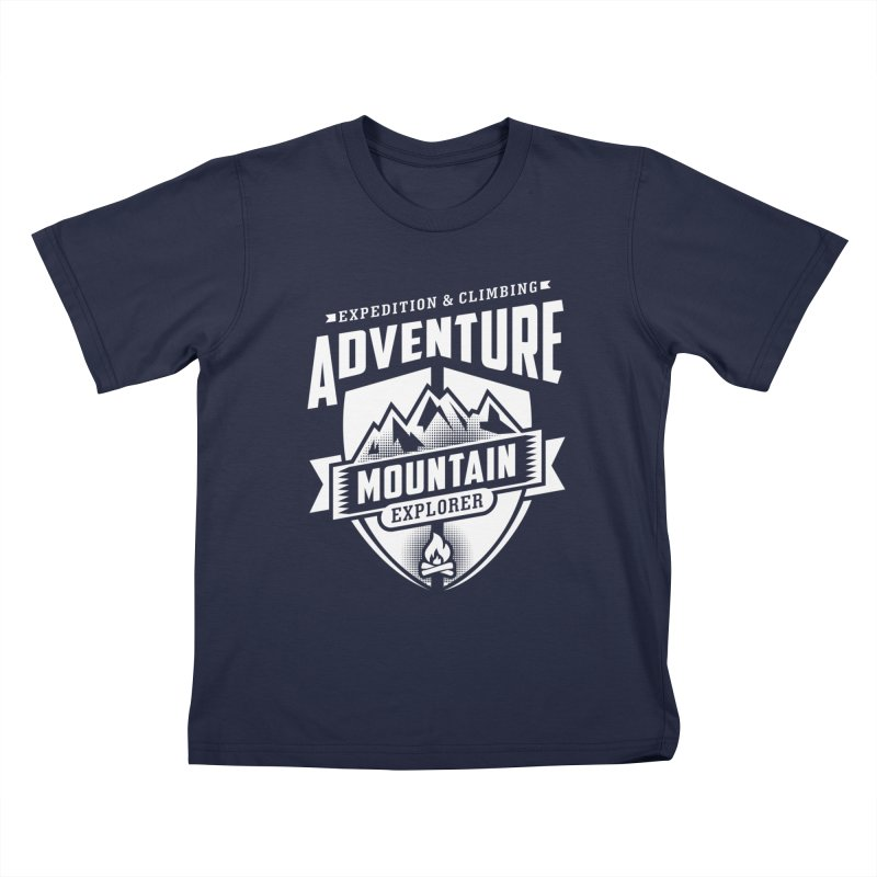Adventure Expedition Extreme Sport Kids T-Shirt by Cido Lopez Shop