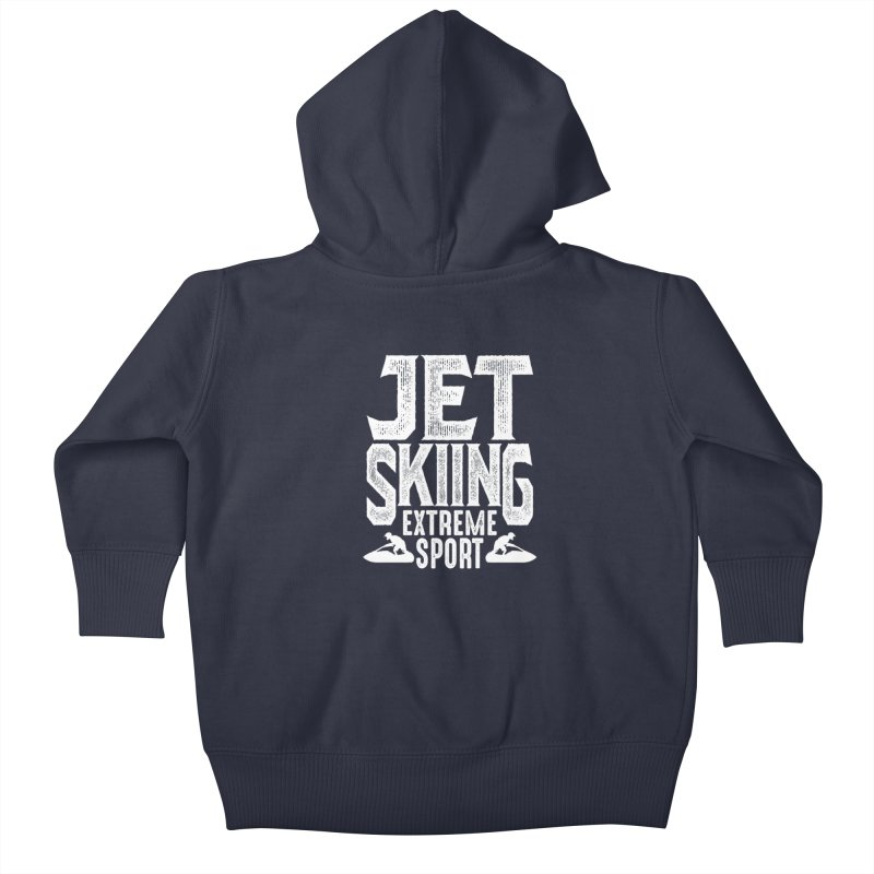 Jet Skiing Extreme Sport Kids Baby Zip-Up Hoody by Cido Lopez Shop