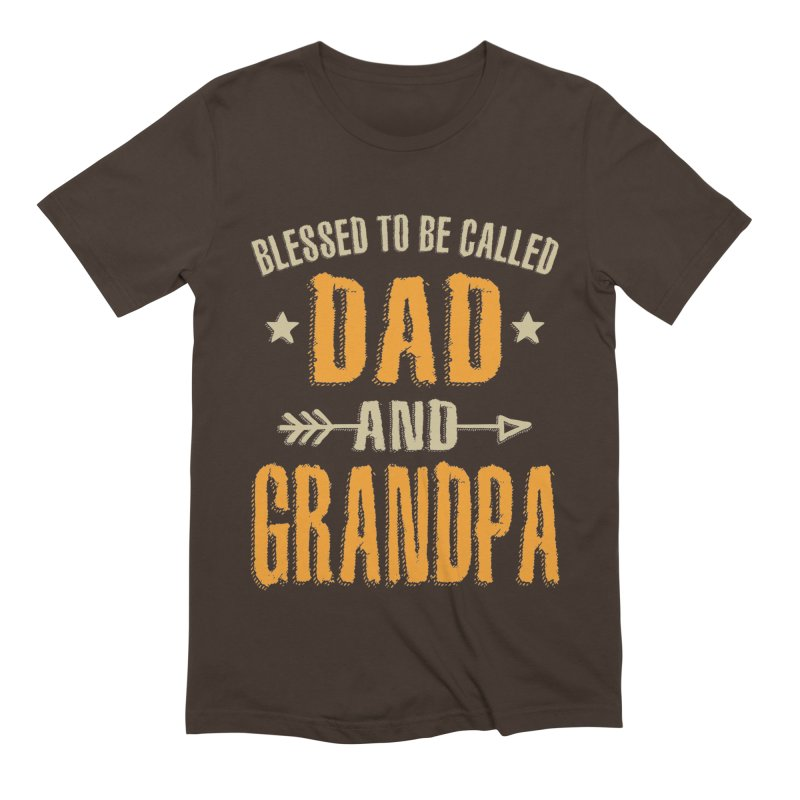 Blessed To Be Called Dad and Grandpa Men's T-Shirt by Cido Lopez Shop