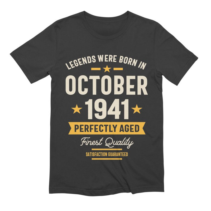 Legends Were Born in October 1941 Birthday Vintage Retro Funny Men's T-Shirt by Cido Lopez Shop