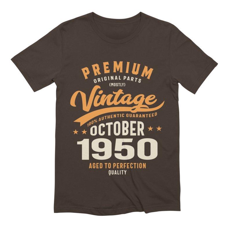 Premium Original Vintage October 1950 Birthday Retro Funny Men's T-Shirt by Cido Lopez Shop