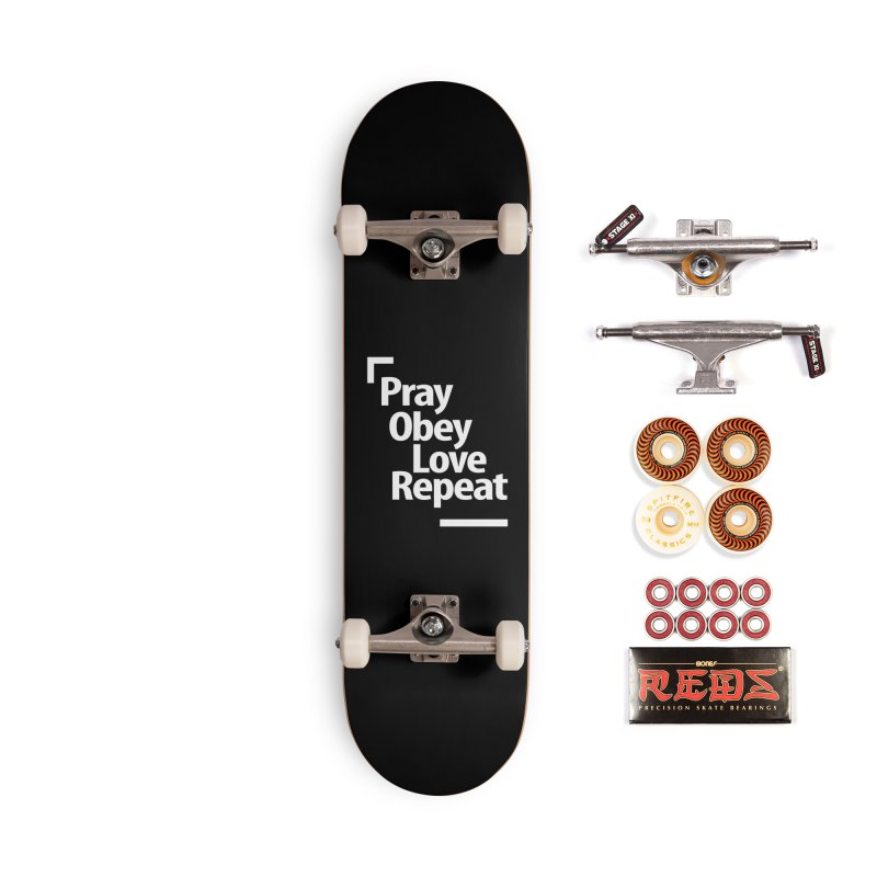Christian Gospel & Bible Phrase for our Lord Jesus Accessories Skateboard by Cido Lopez Shop