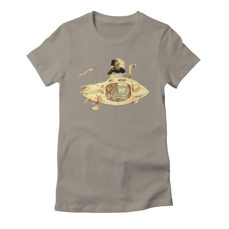 First Submarine Women's Fitted T-Shirt by Cincotta Designs
