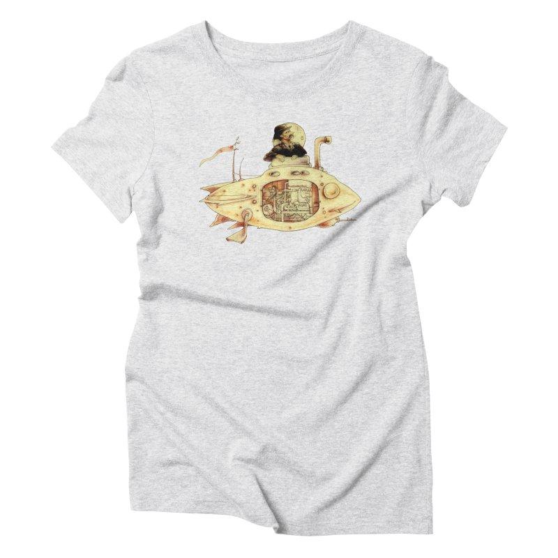 First Submarine Women's Triblend T-shirt by Cincotta Designs