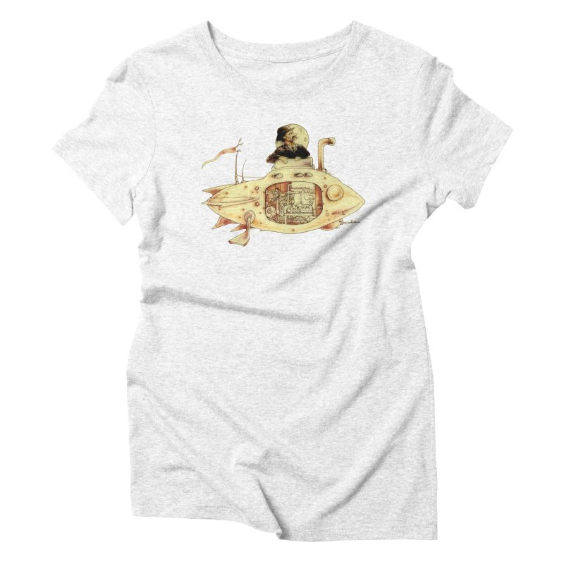 First Submarine Women's Triblend T-shirt by Cincotta Designs
