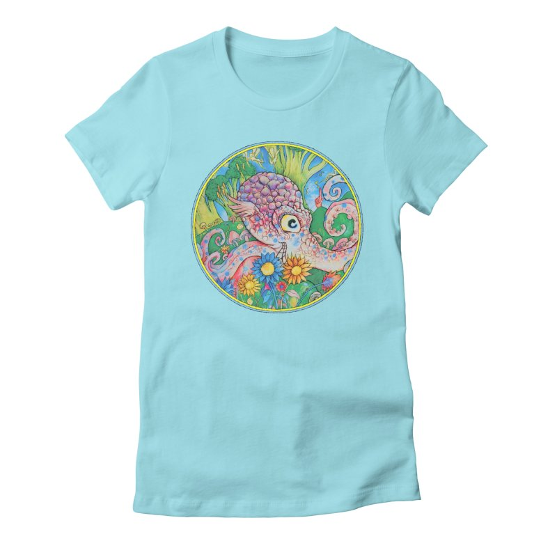 Octopus Garden Women's Fitted T-Shirt by Cincotta Designs