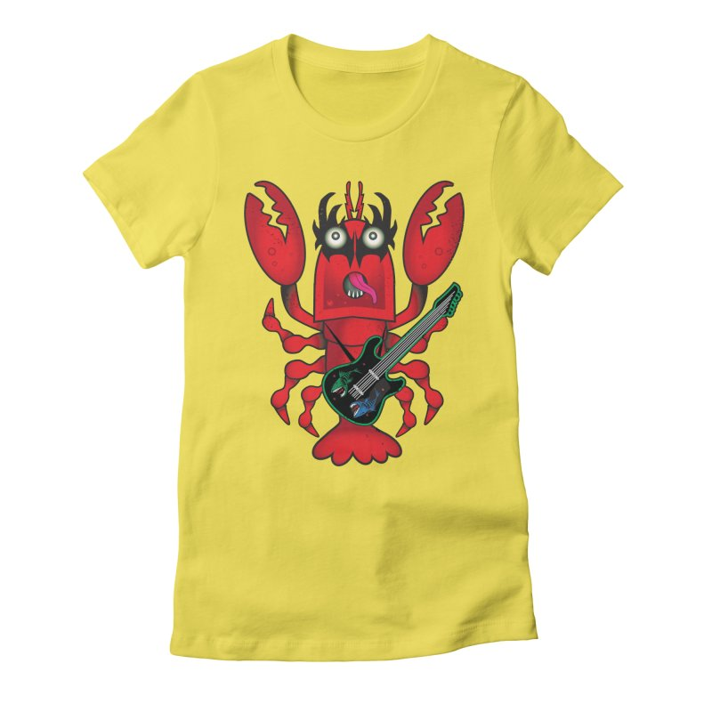 Rock Lobster Women's Fitted T-Shirt by Cincotta Designs