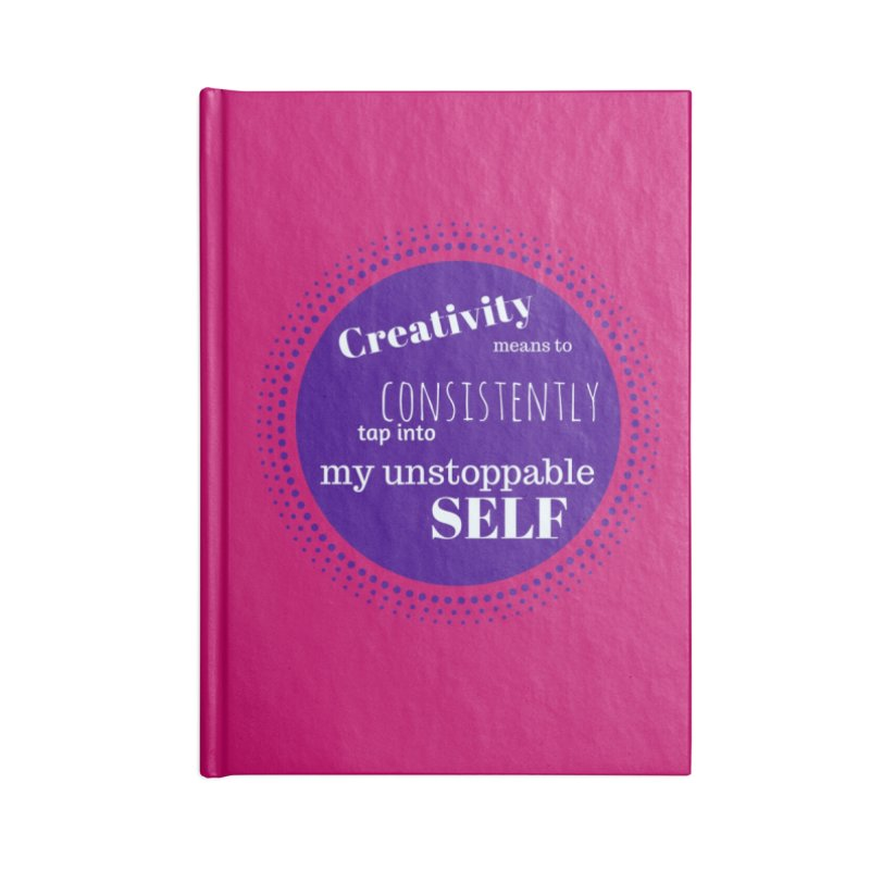 Creativity means - purple Accessories Blank Journal Notebook by Inspirational Notebooks