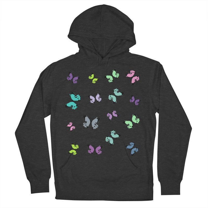 Colorful butterflies Men's French Terry Pullover Hoody by cindyshim's Artist Shop