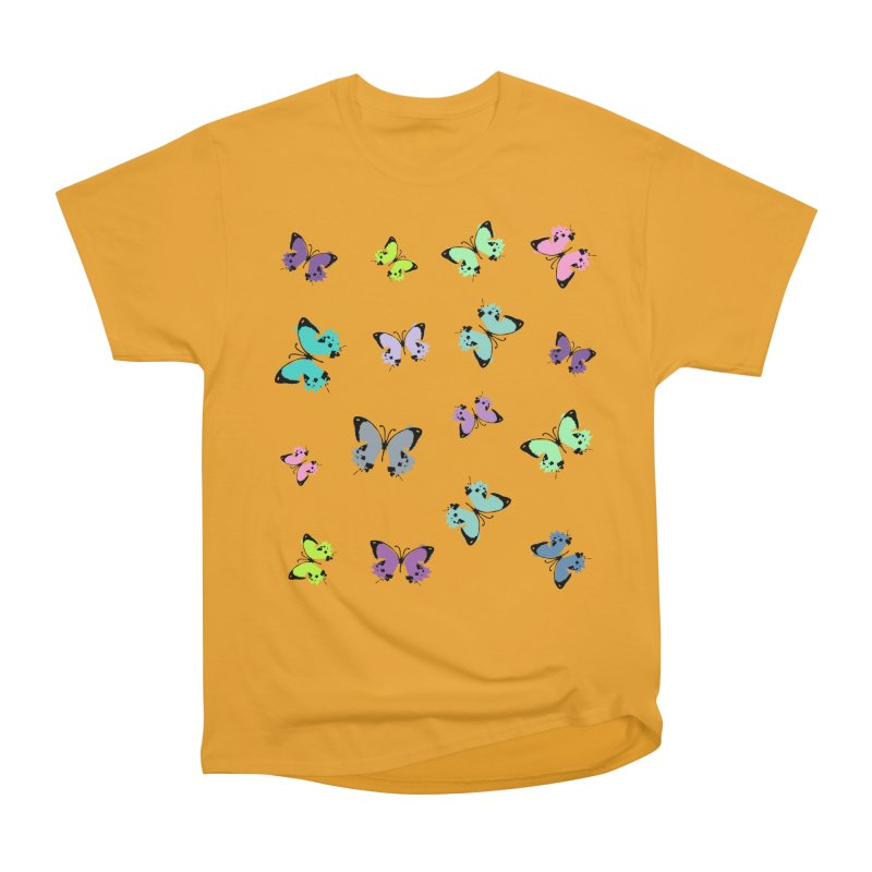 Colorful butterflies Women's Heavyweight Unisex T-Shirt by cindyshim's Artist Shop
