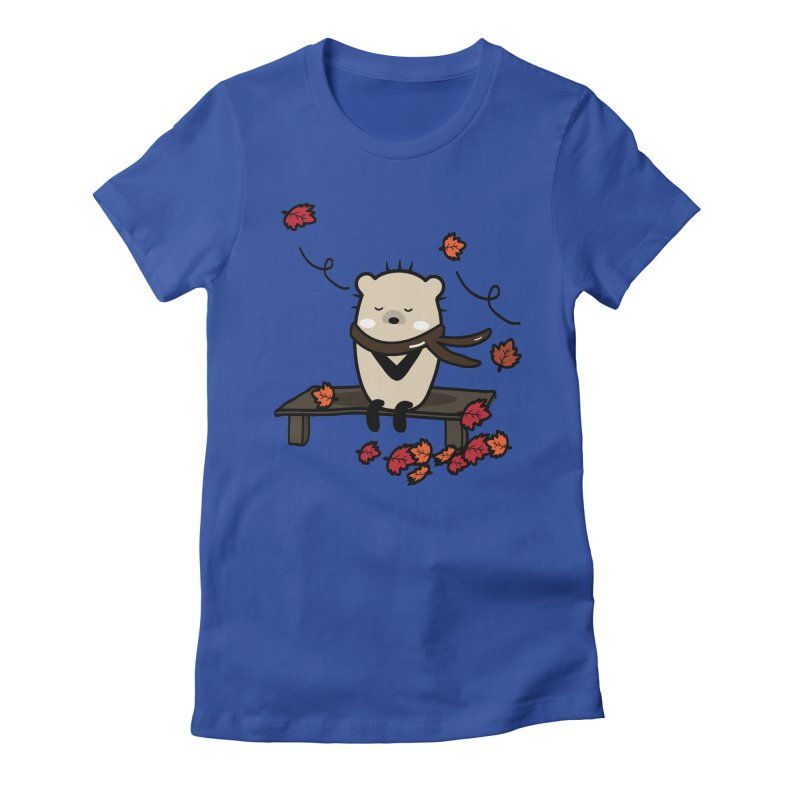 Mochie autumn mood 1 Women's Fitted T-Shirt by cindyshim's Artist Shop
