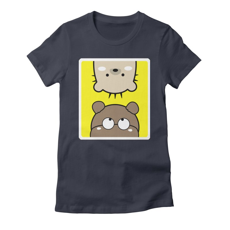 Mochie & CoCo Women's Fitted T-Shirt by cindyshim's Artist Shop