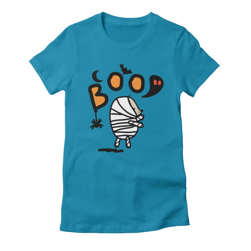 Mochie BOO Women's Fitted T-Shirt by cindyshim's Artist Shop