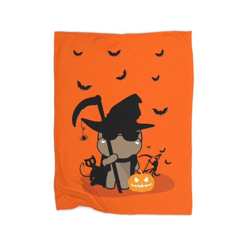 CoCo Happy Halloween Home Fleece Blanket Blanket by cindyshim's Artist Shop
