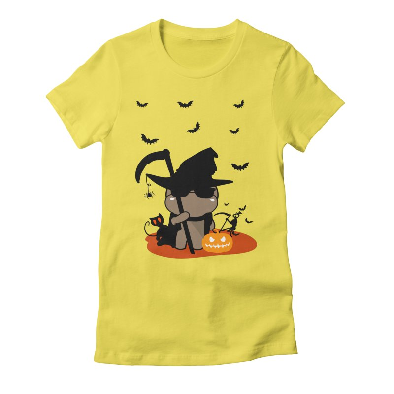 CoCo Happy Halloween Women's Fitted T-Shirt by cindyshim's Artist Shop