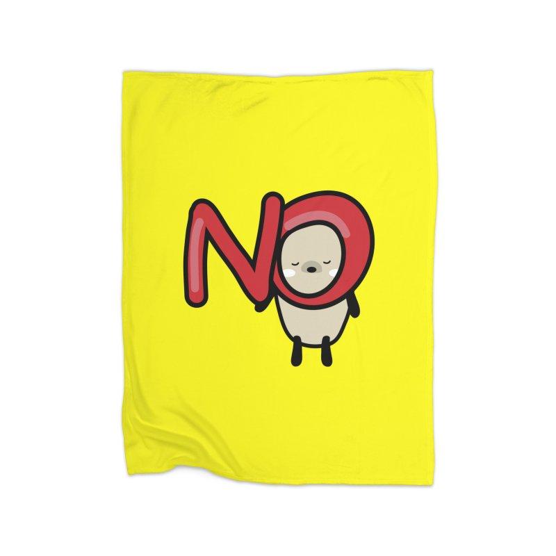 Mochie NO Home Fleece Blanket Blanket by cindyshim's Artist Shop