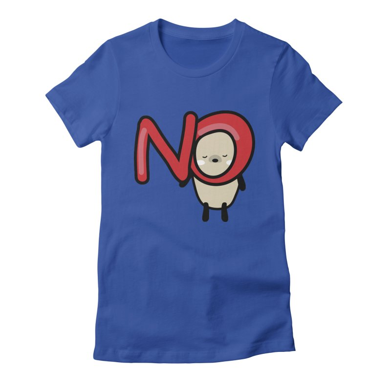 Mochie NO Women's Fitted T-Shirt by cindyshim's Artist Shop
