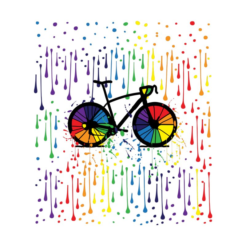 Rainbow bicycle by cindyshim's Artist Shop