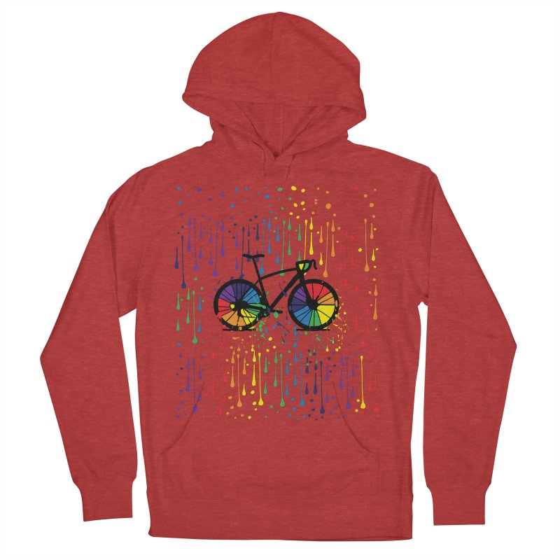 Rainbow bicycle Men's French Terry Pullover Hoody by cindyshim's Artist Shop