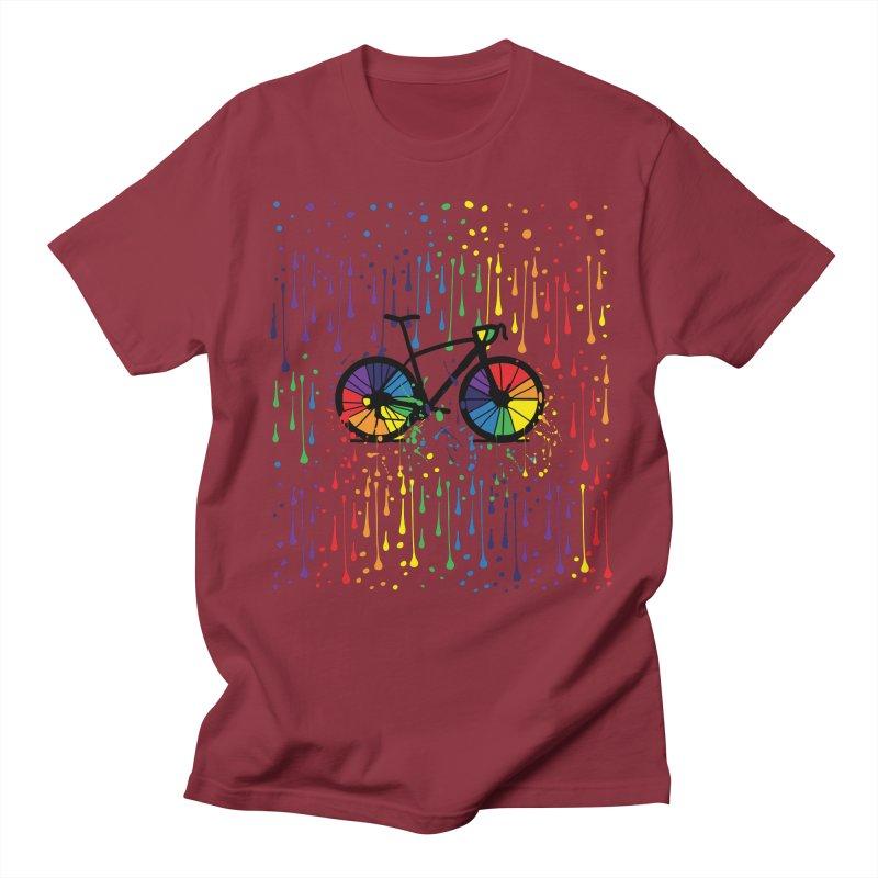 Rainbow bicycle Women's Regular Unisex T-Shirt by cindyshim's Artist Shop
