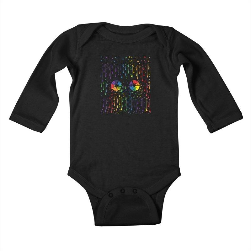 Rainbow bicycle Kids Baby Longsleeve Bodysuit by cindyshim's Artist Shop